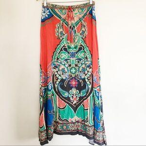 {FLYING TOMATO} Gypsy Maxi Skirt Mulitcolored M